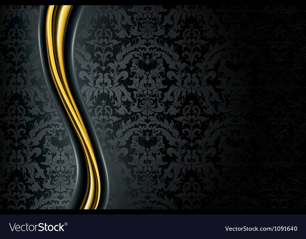 Black luxury background vector