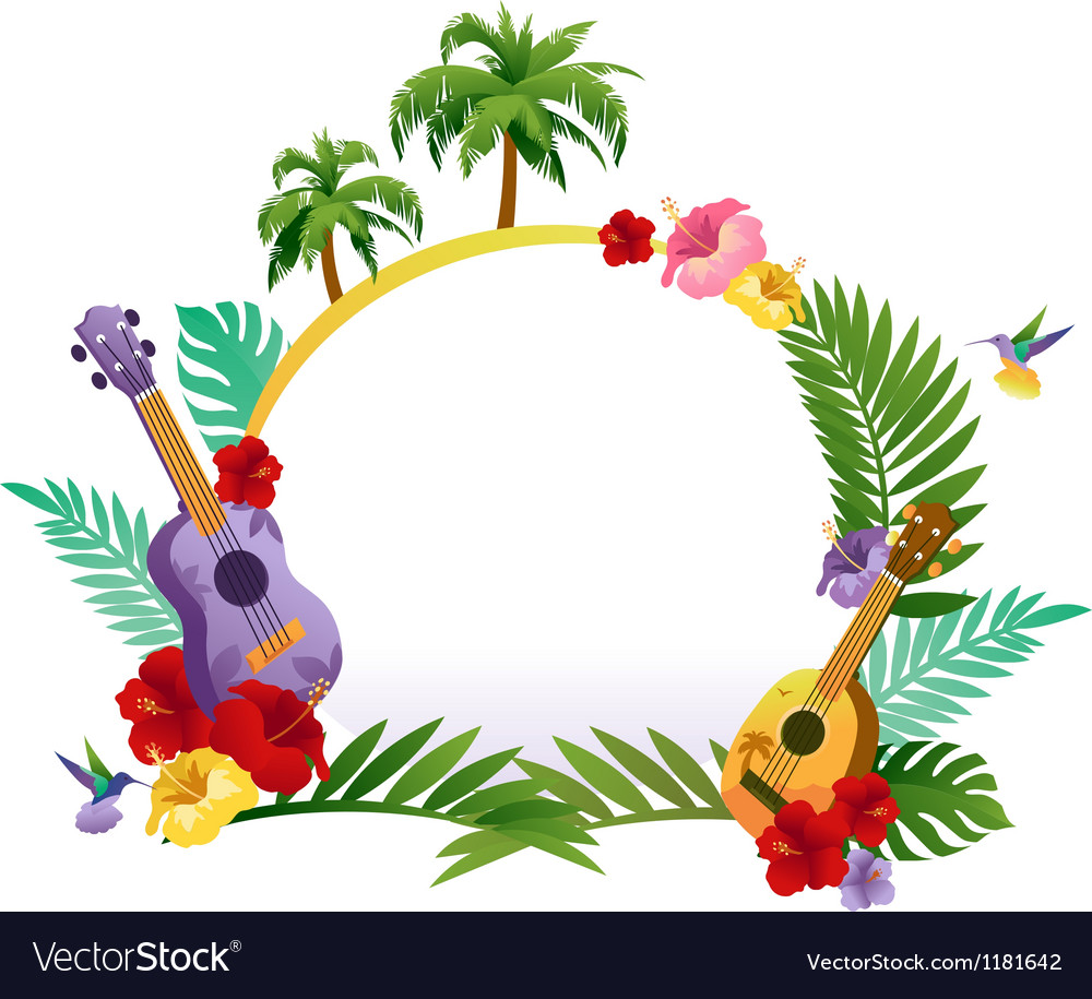 Tropical abstract banner vector