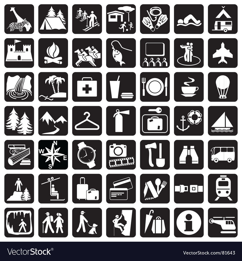 Icons travel vector