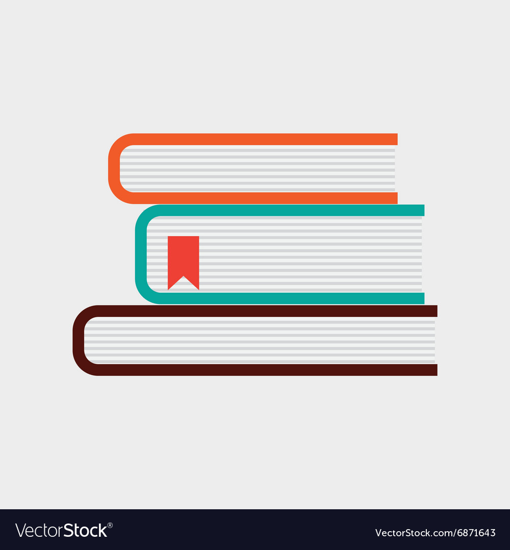 Office books design vector