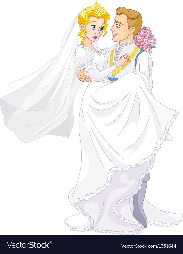 Happy royal couple vector