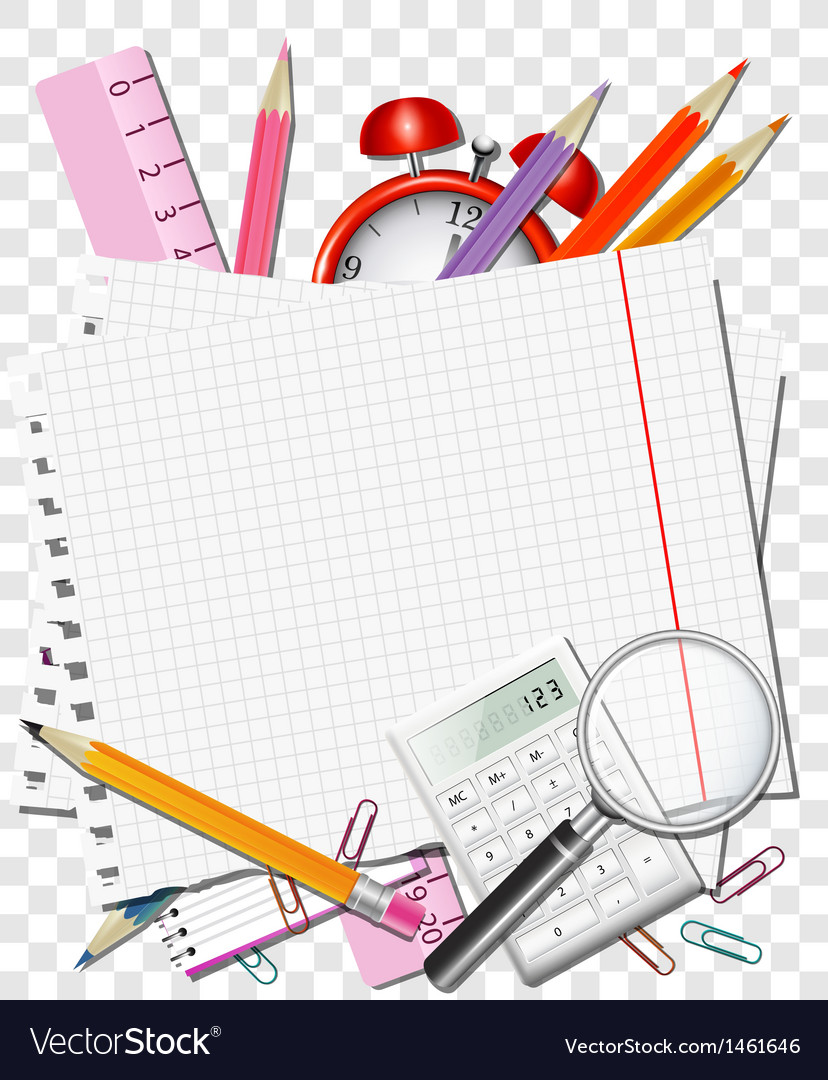 Back to school background or card vector