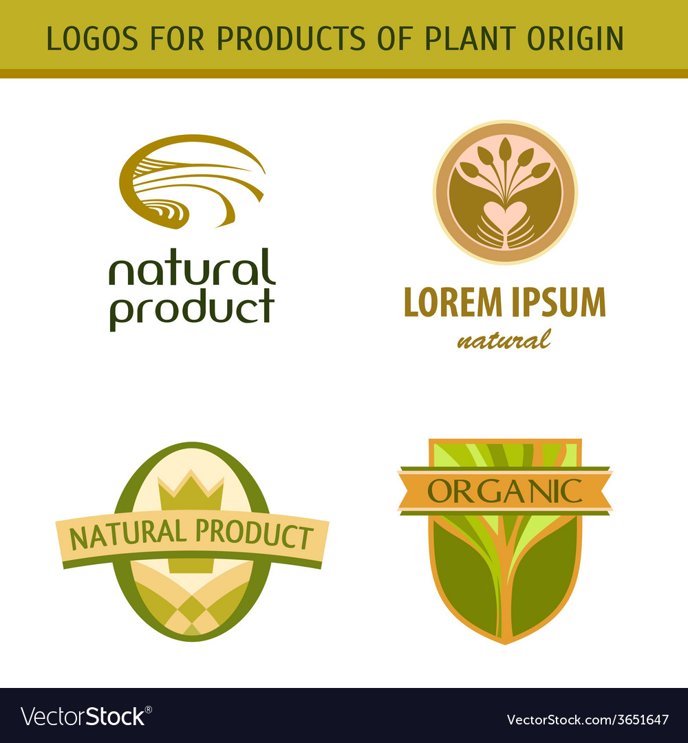 Set logo for farmers agricultural products natural vector