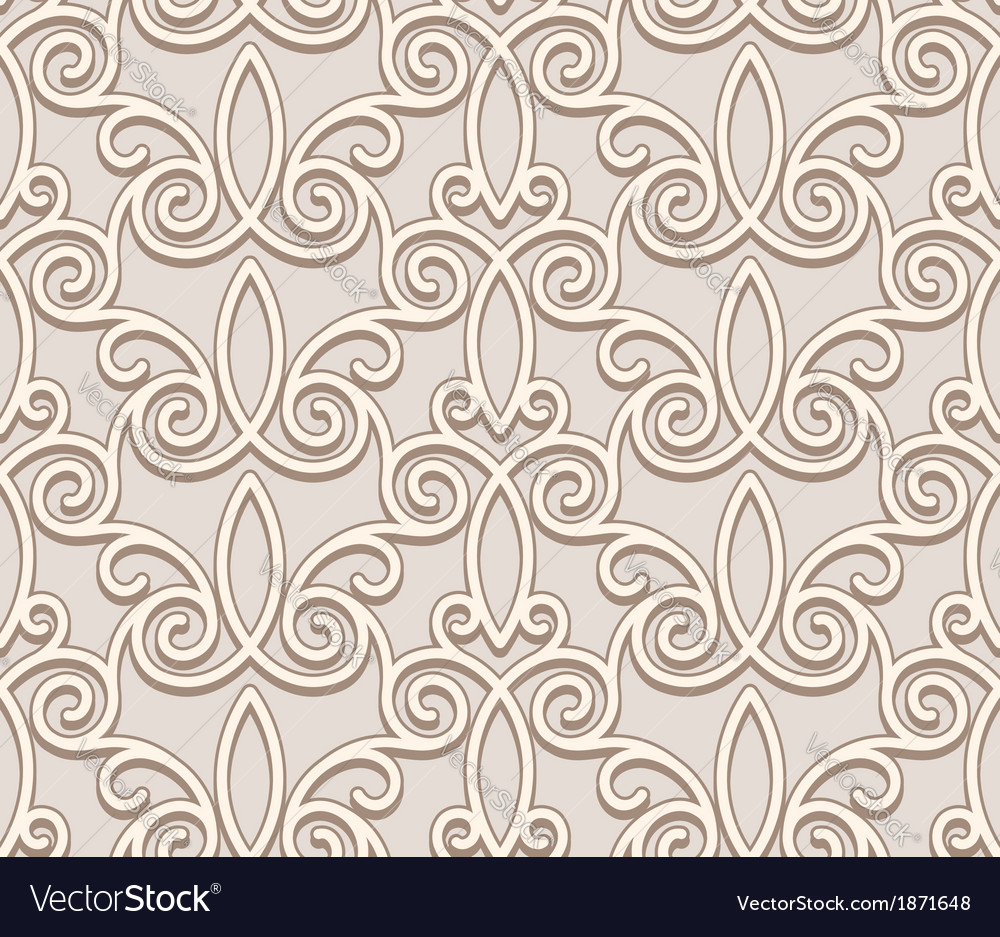 Seamless beige pattern vector