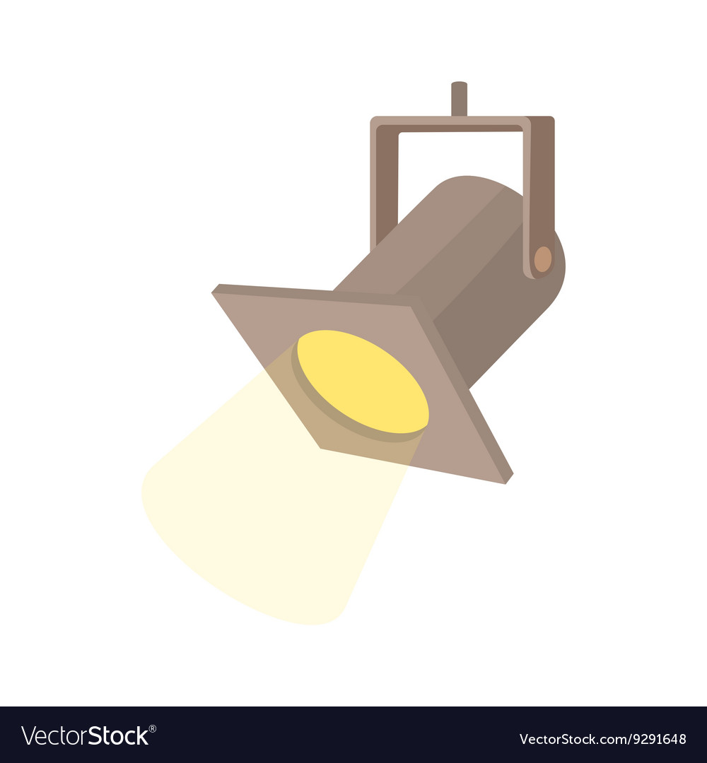 Ter spotlight icon cartoon style vector