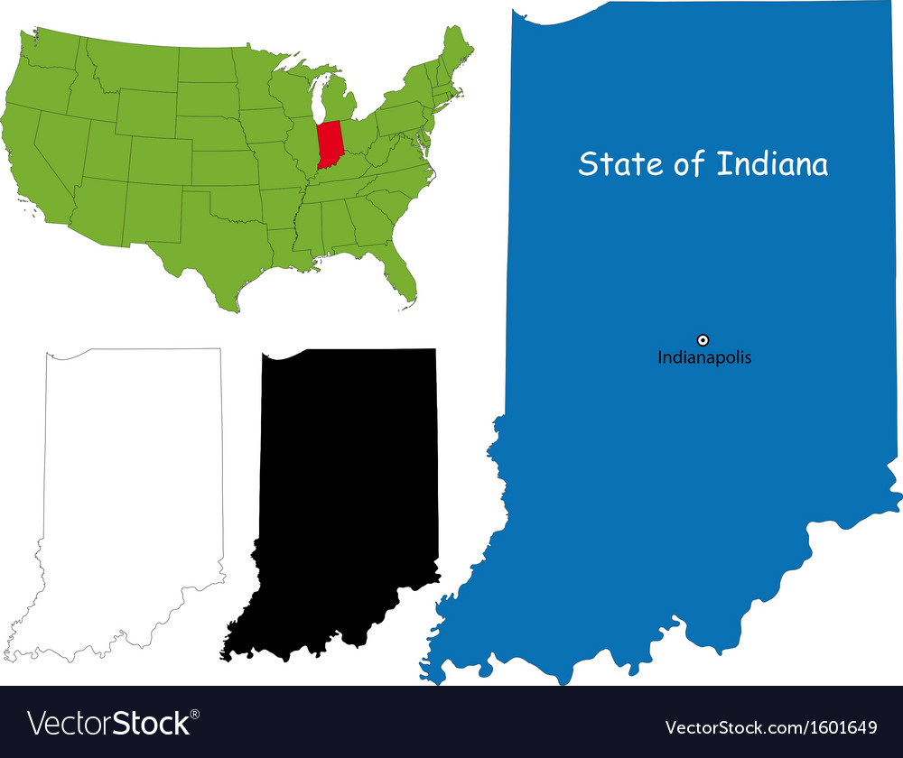 Indiana map vector