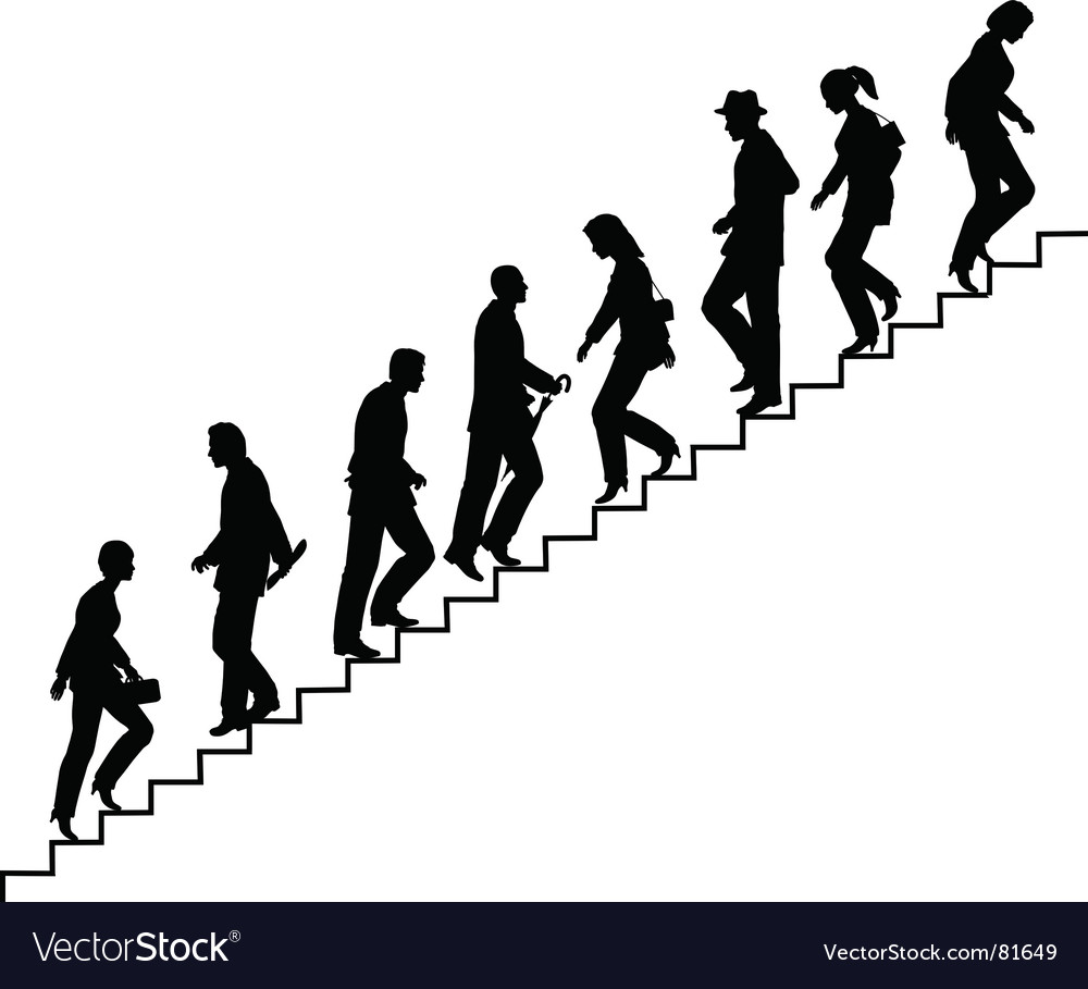 Stair walkers vector