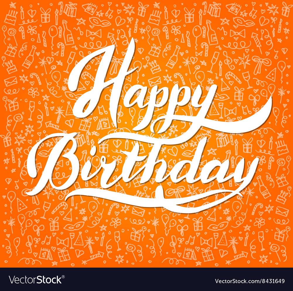 Vintage happy birthday typographical background vector