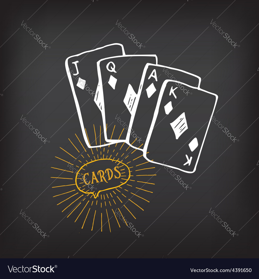 Cards sketch design vector