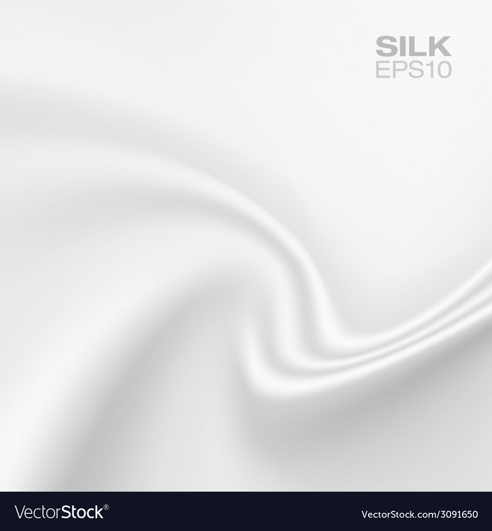 White silk background horizontal composition vector