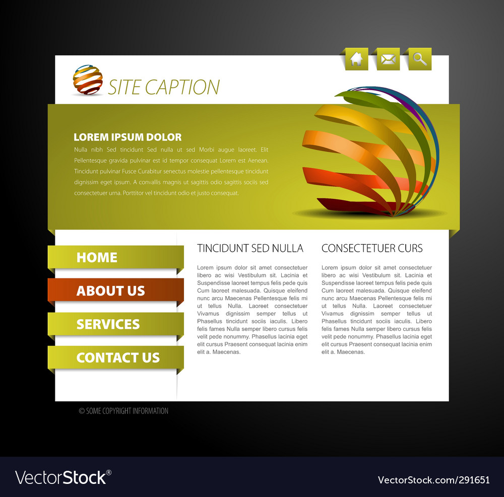 Web page template vector