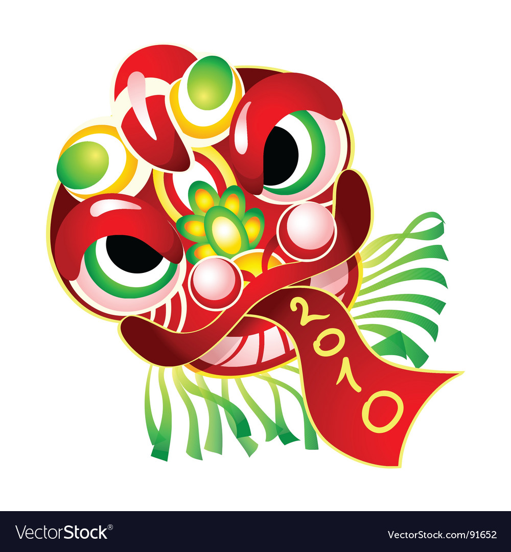 Chinese new year mask 2010 vector
