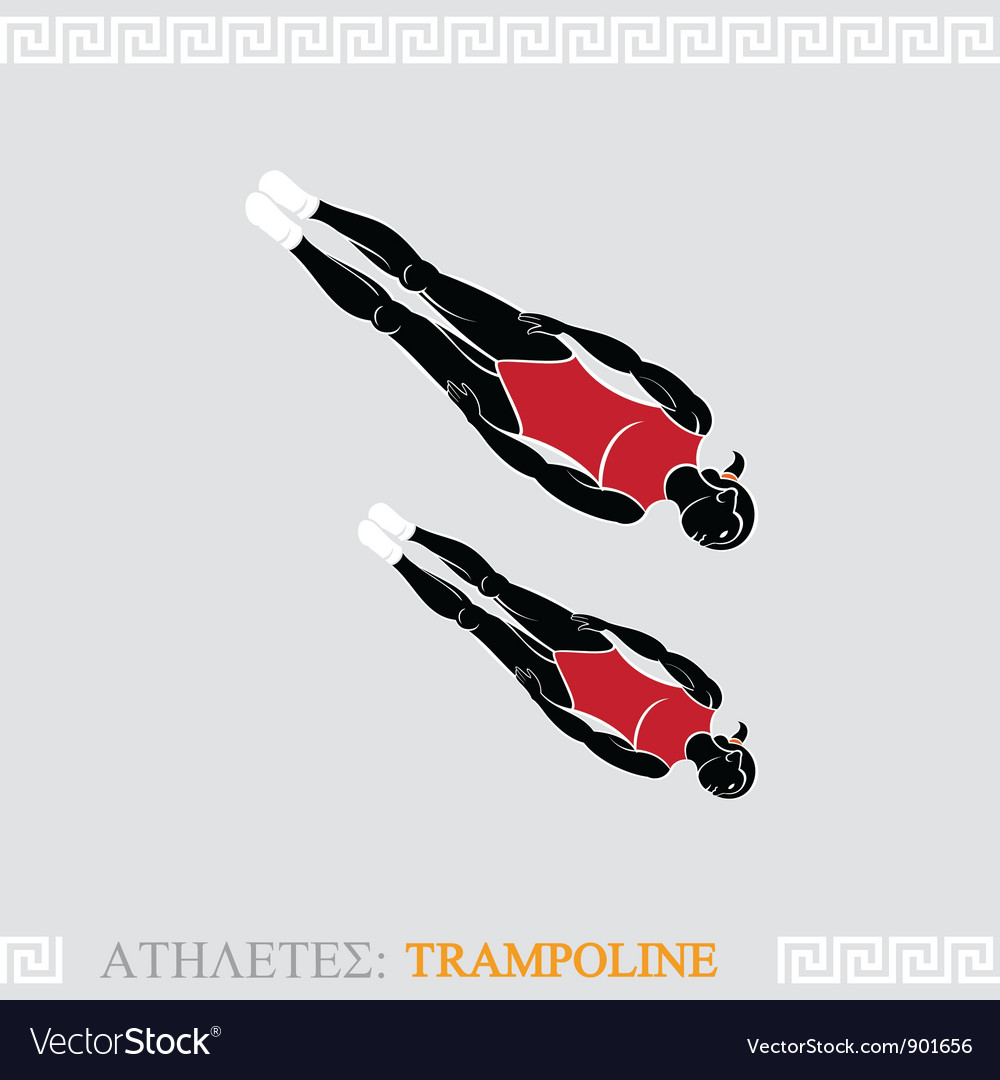 Athlete trampoline gymnast vector