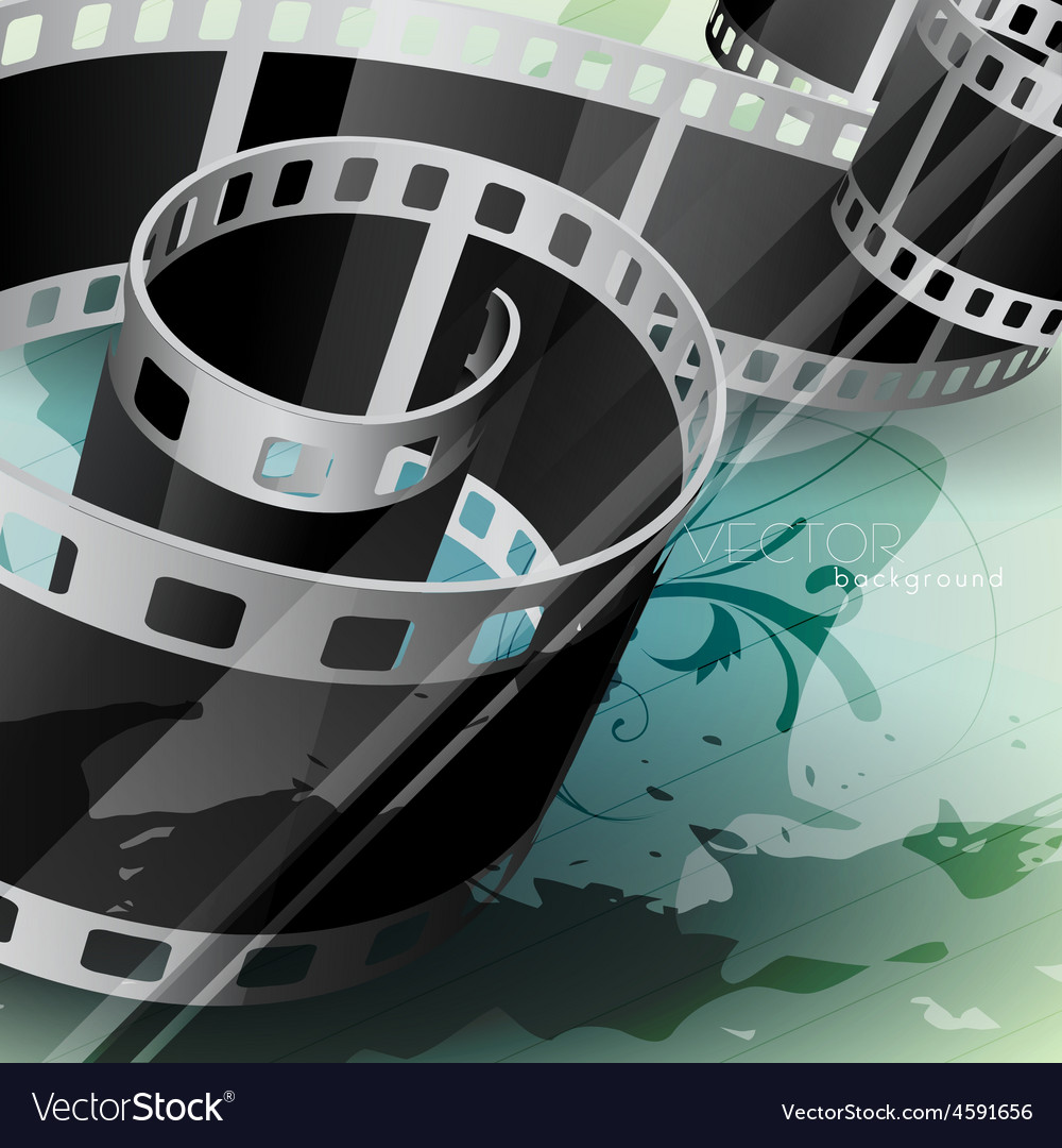 Film reel vector