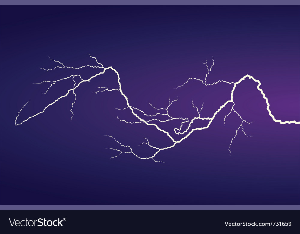 Horizontal lightning vector