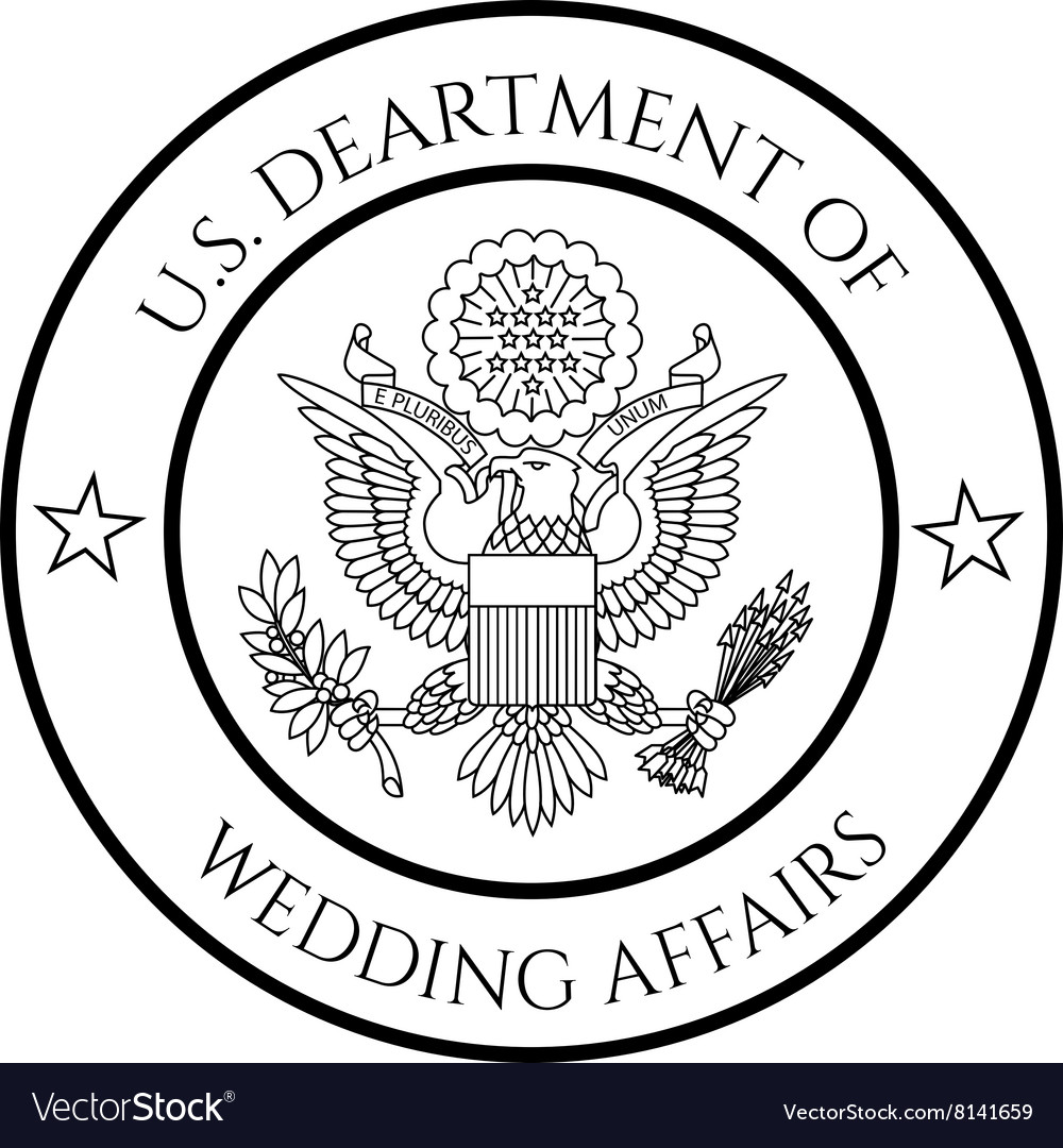 Wedding affairs fake seal vector