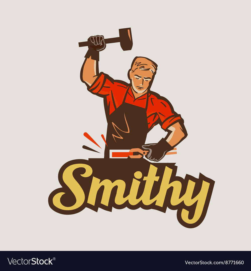 Blacksmith smithy vector