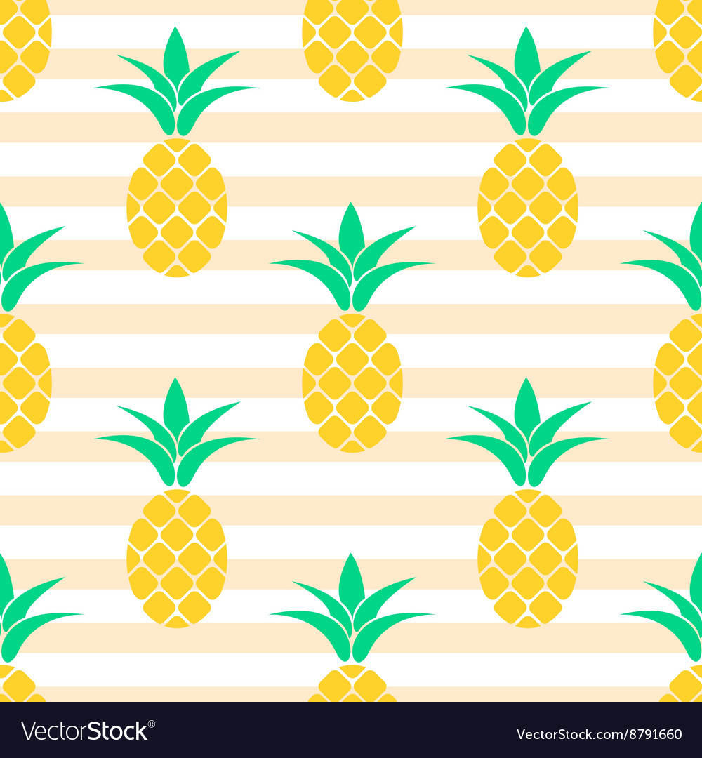 Summer pineapple pattern design pastel colors vector