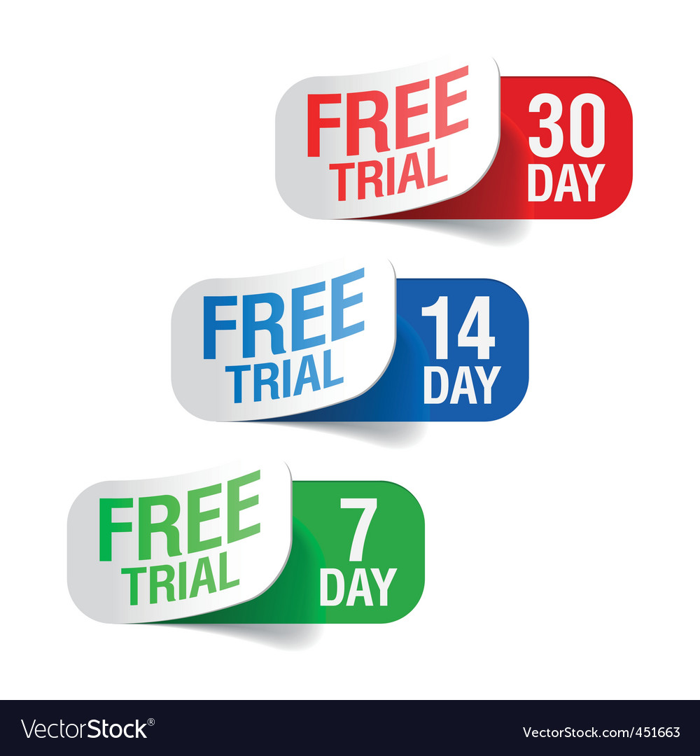 Free trial signs vector