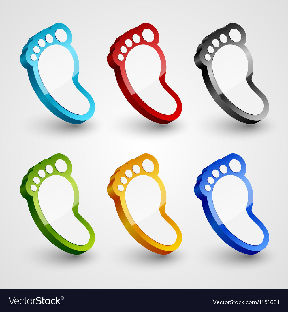 3d footprint collection vector