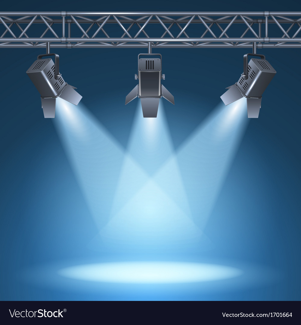 Stage with lights vector