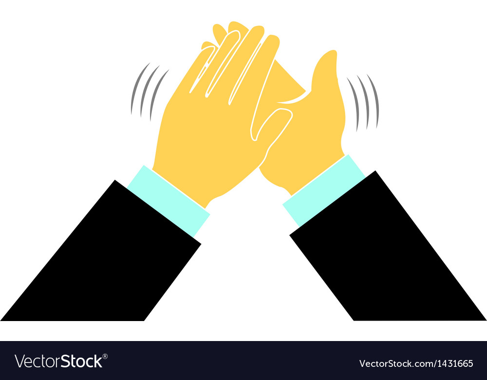 Clap hands conference business logo vector