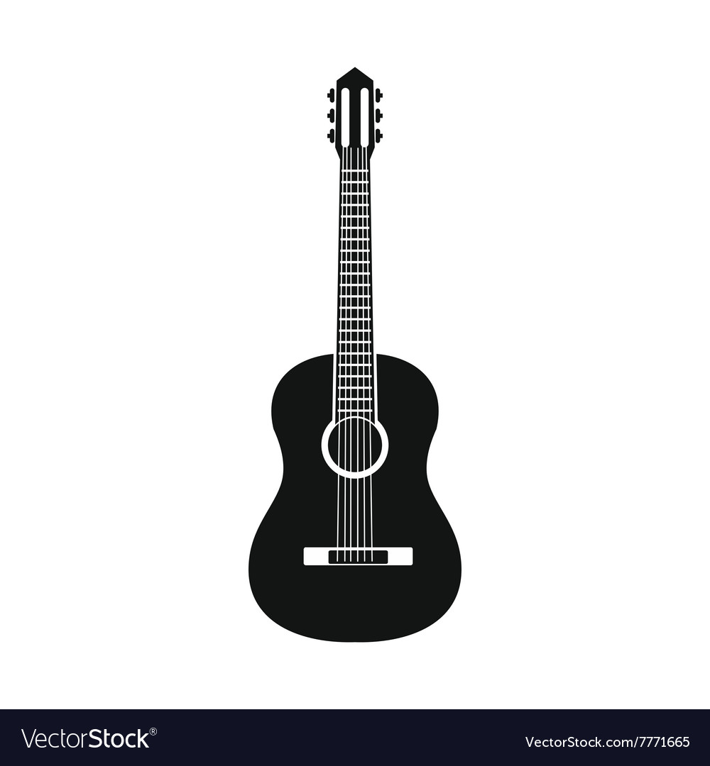Classic guitar icon simple style vector