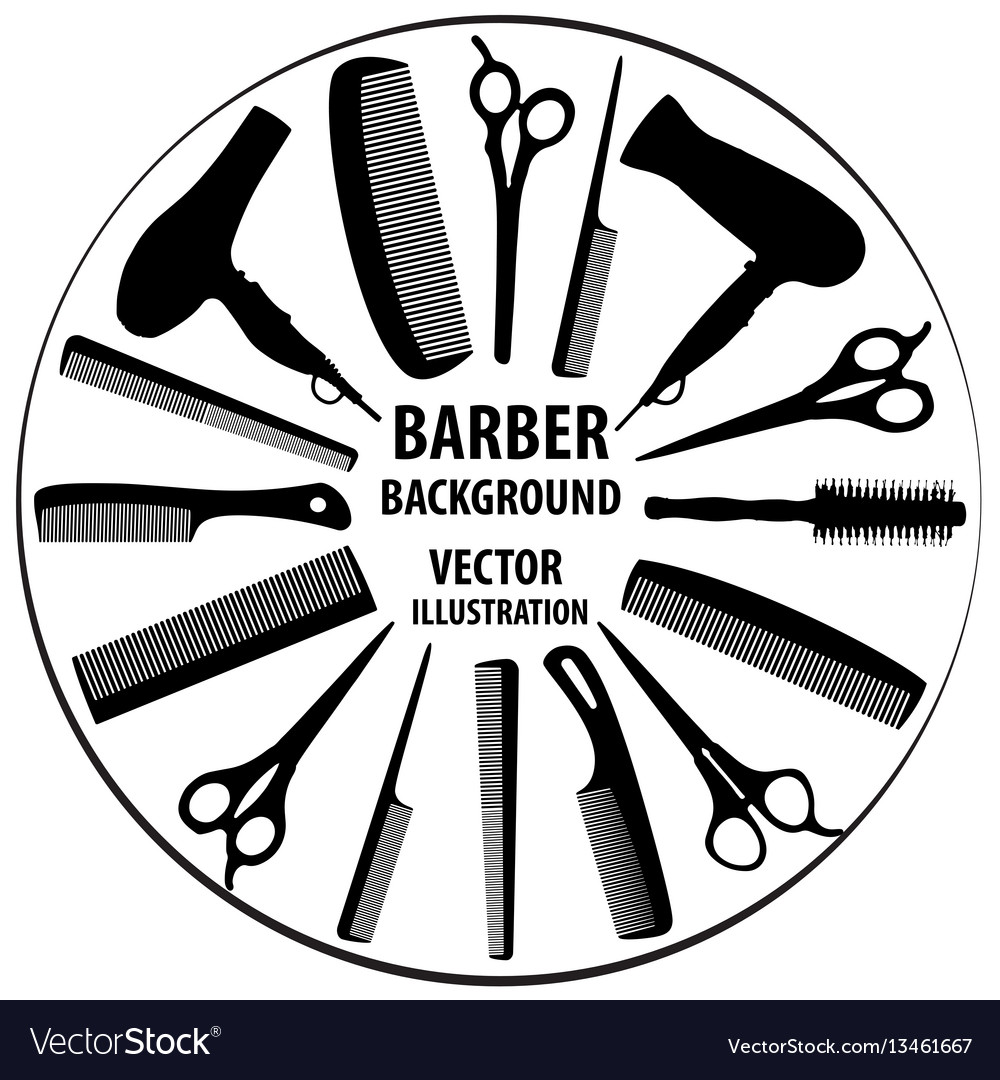 Background for barber and hairdresser vector