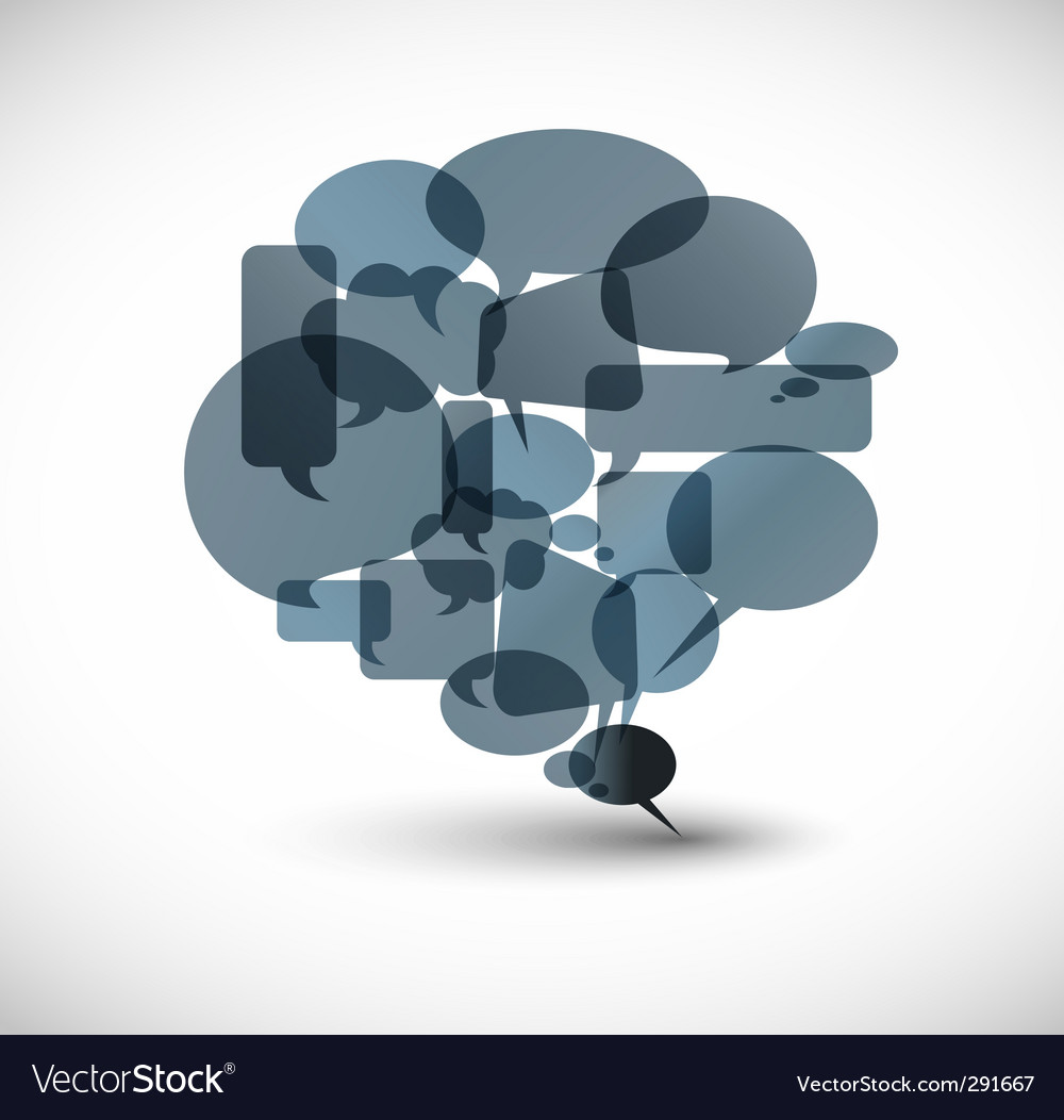 Speech bubble collage vector