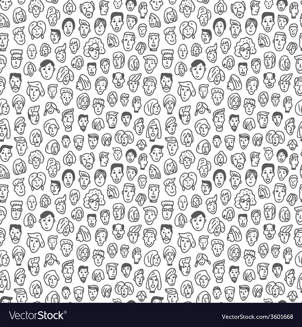 Faces  seamless background vector