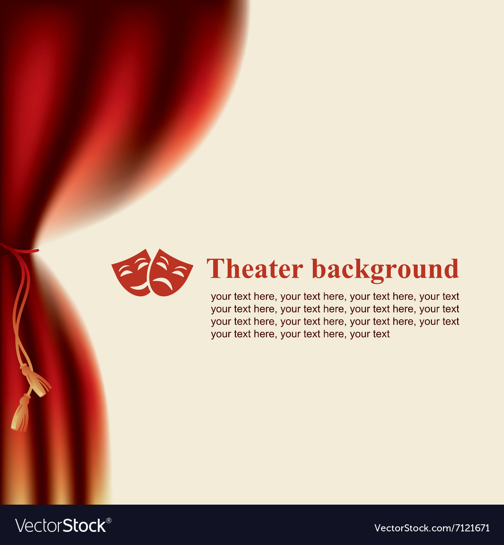 Scenes and theatrical masks vector