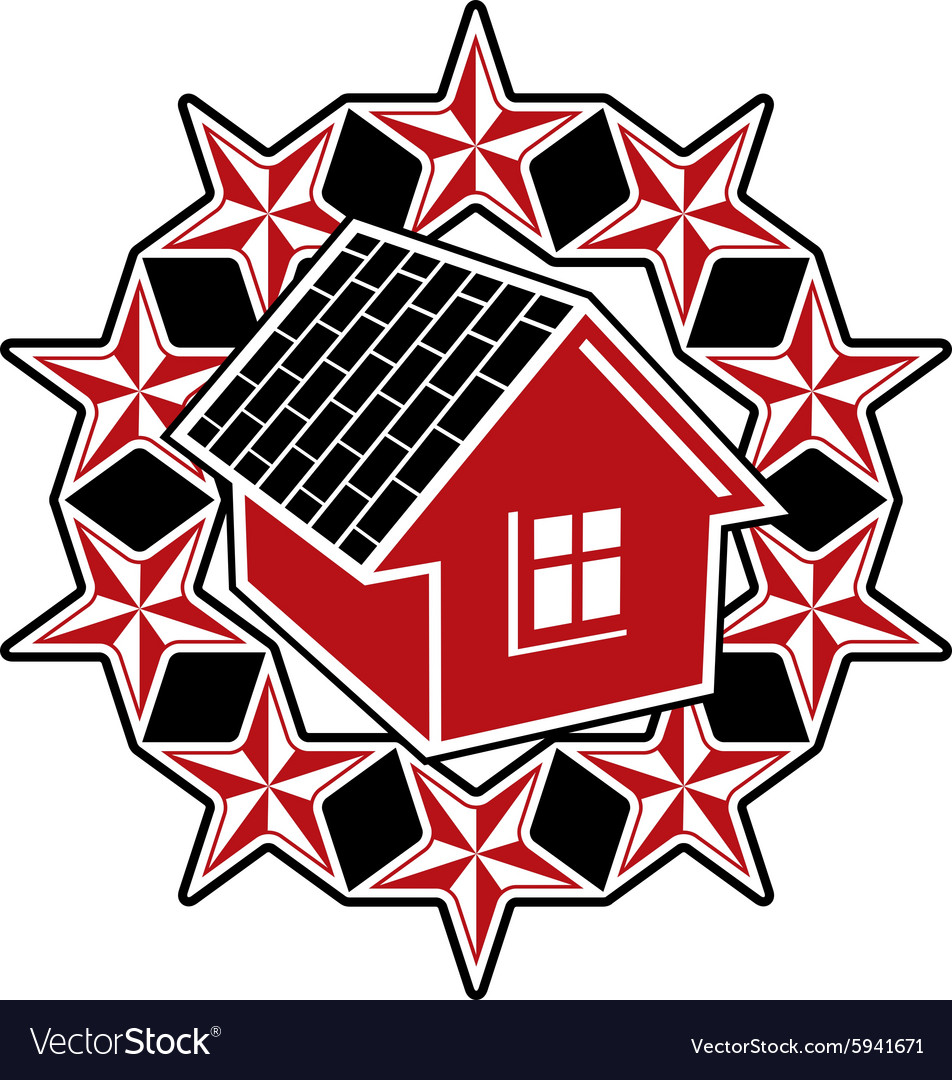 Solidarity idea icon simple house surrounded with vector