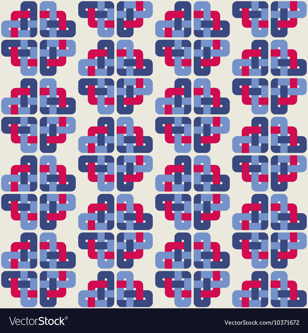 Celtic knot abstract seamless colorful pattern vector
