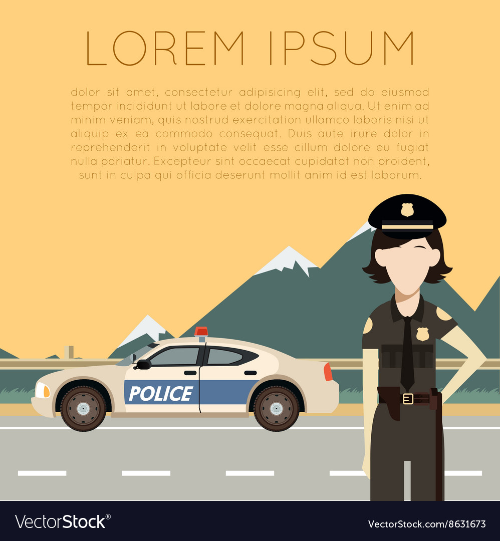 Police on the road banner7 vector