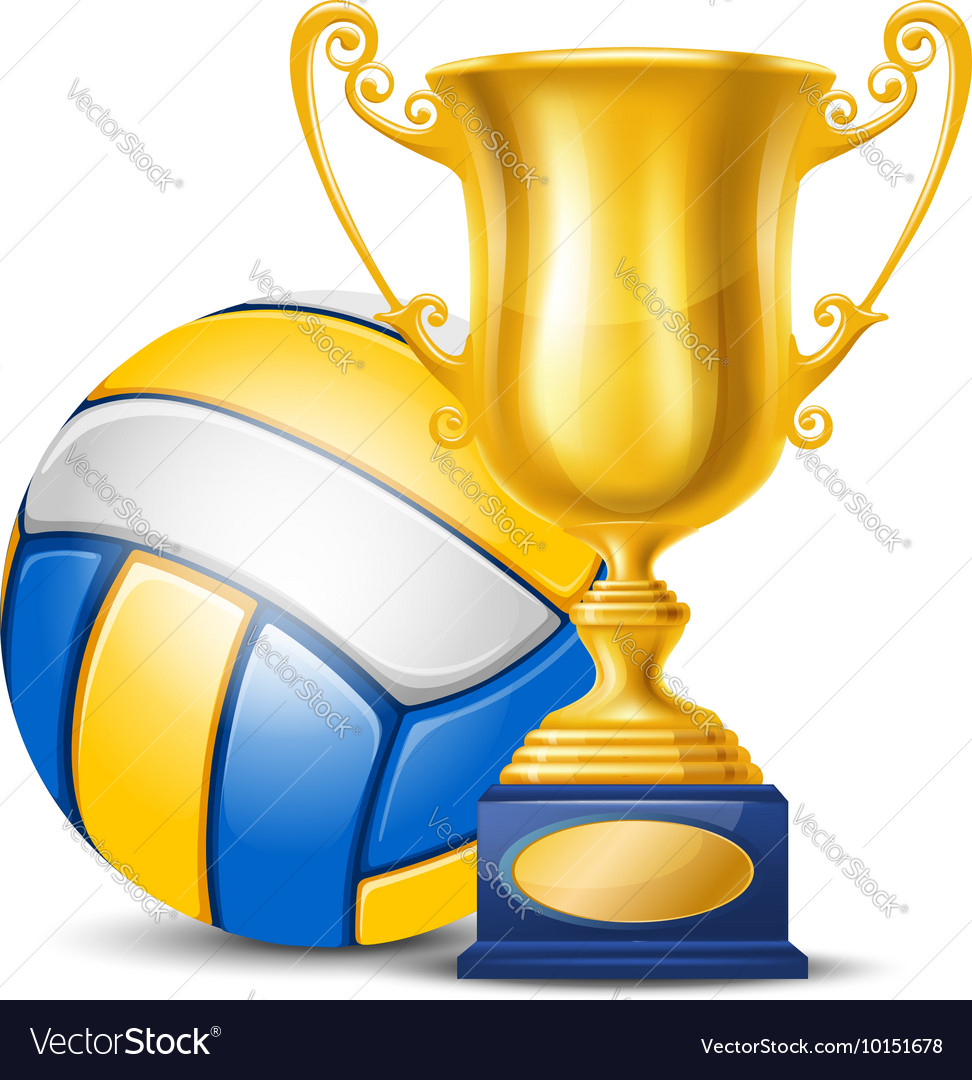 Volleyball cup vector