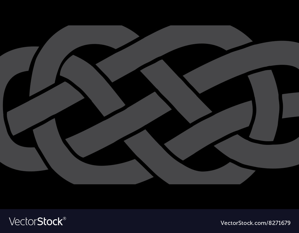 Knot on a rope vector