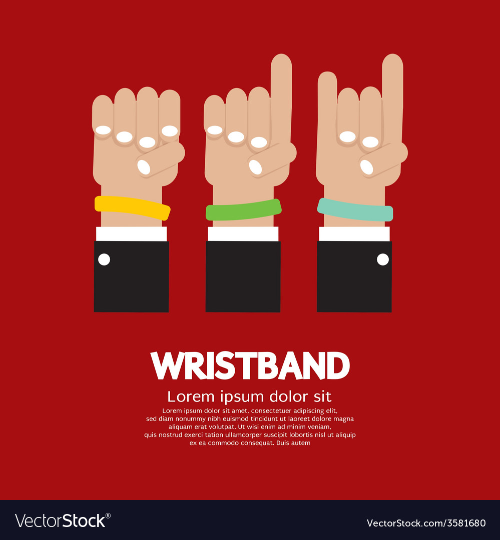 Colorful wristband graphic vector