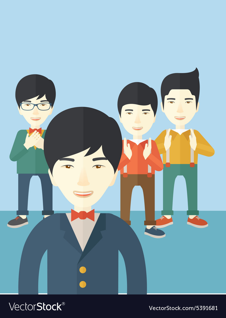 Handsome asian businessmen vector