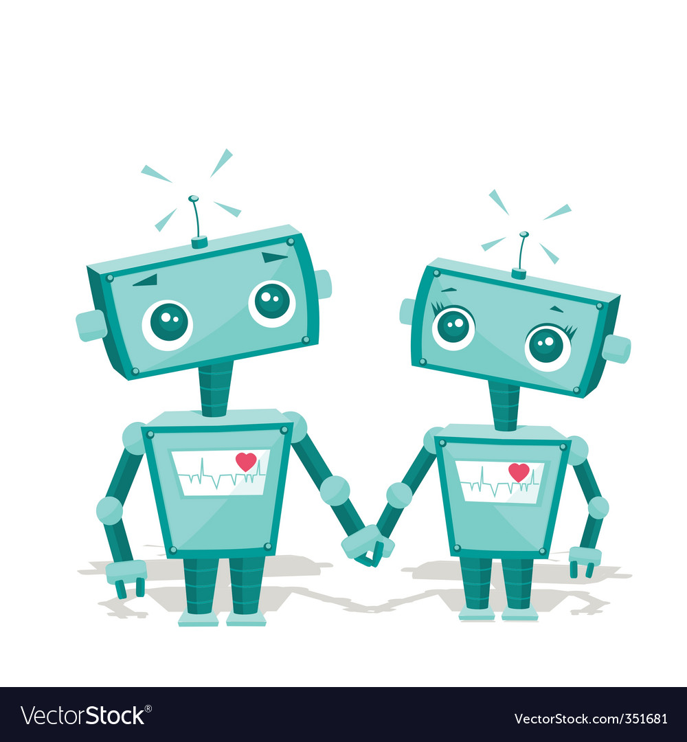 Robot cartoon vector