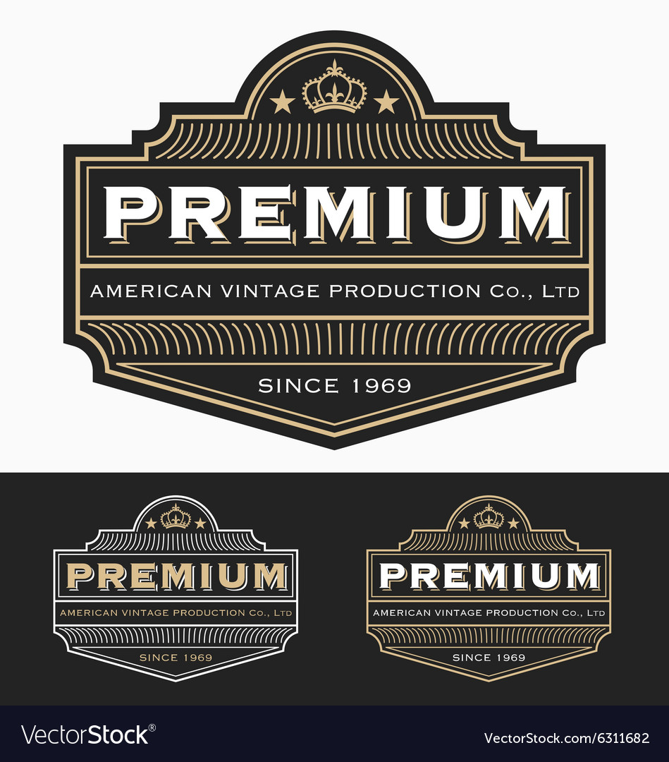 Vintage badge logo label design vector