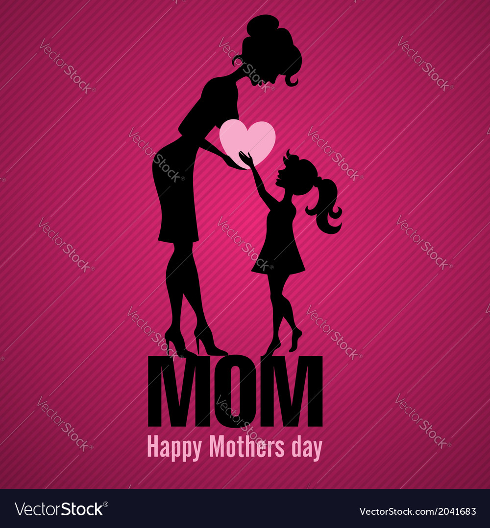 Happy mothers day vector