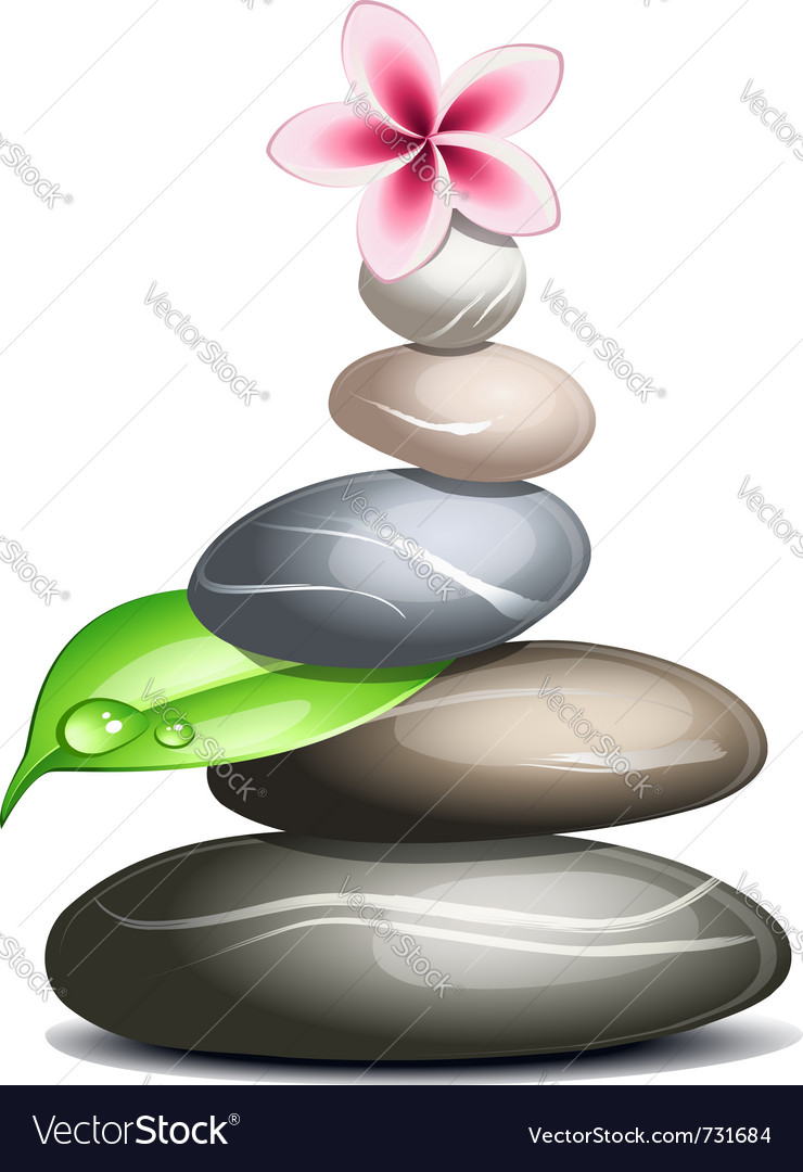 Colored pebbles vector
