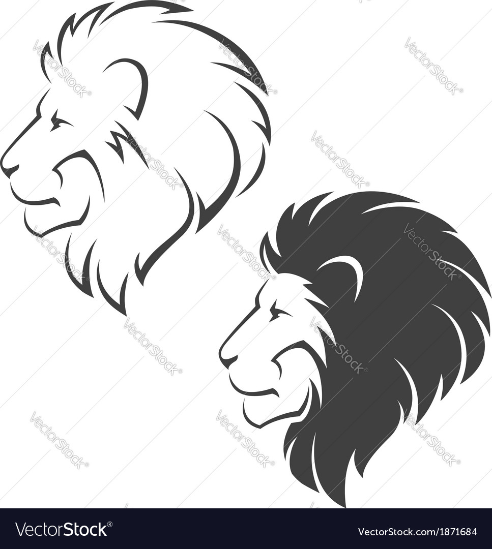 Lion head symbol vector