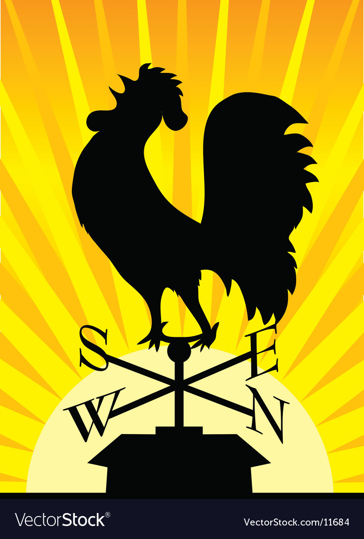 Weathervane rooster vector