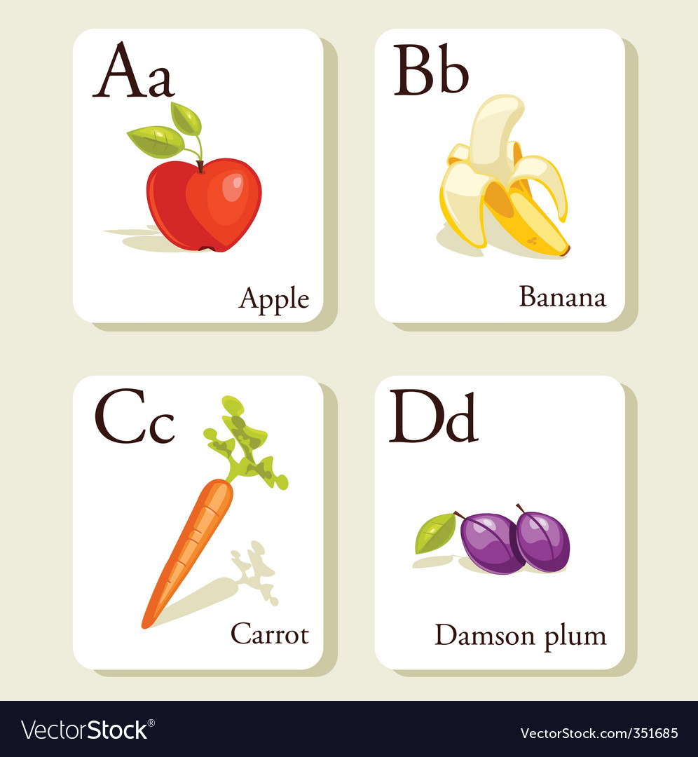 Alphabet cards vector
