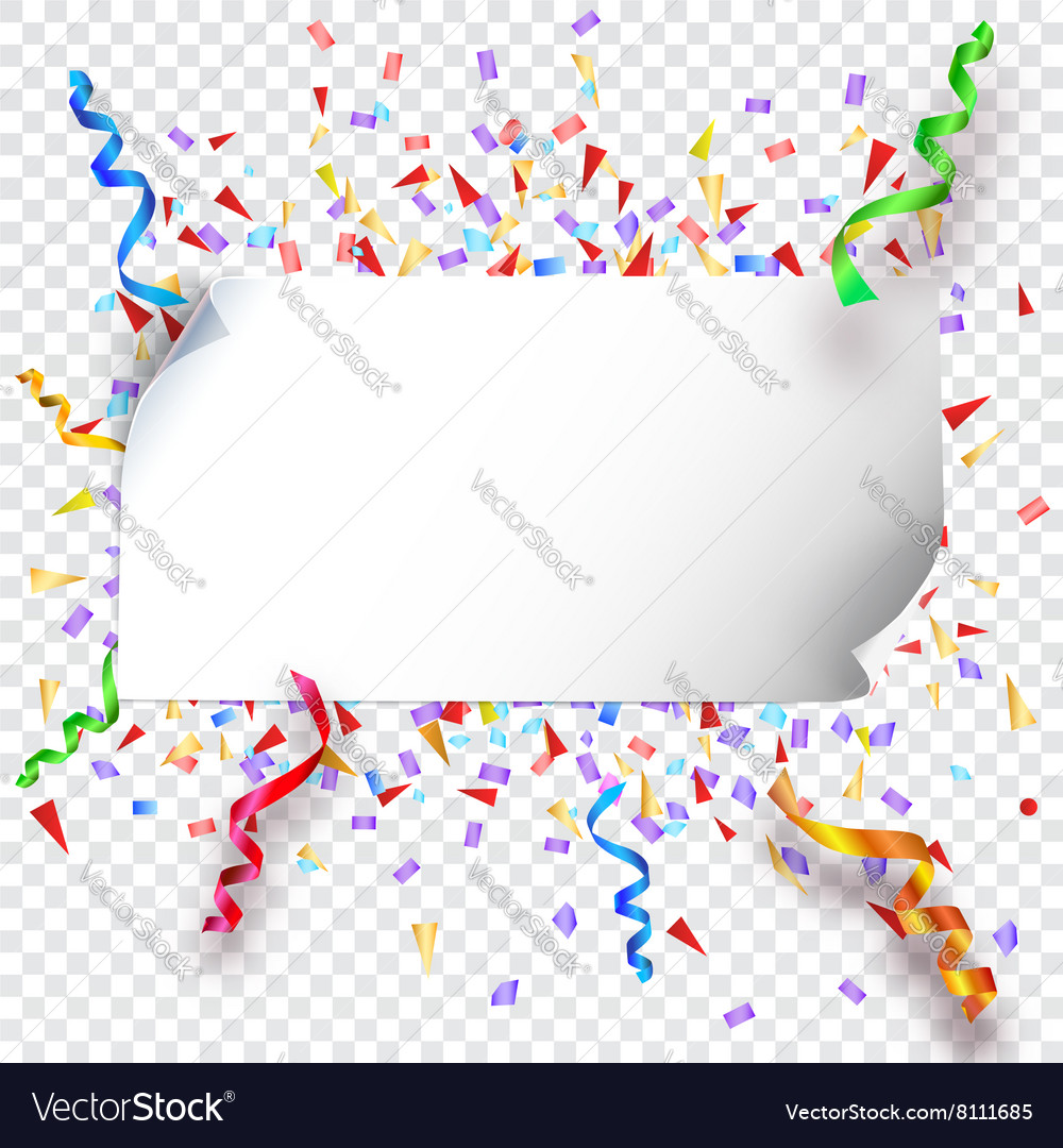 Festive background on transparent vector