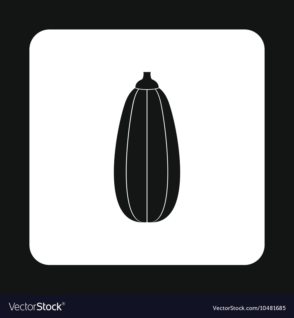 Zucchini icon simple style vector