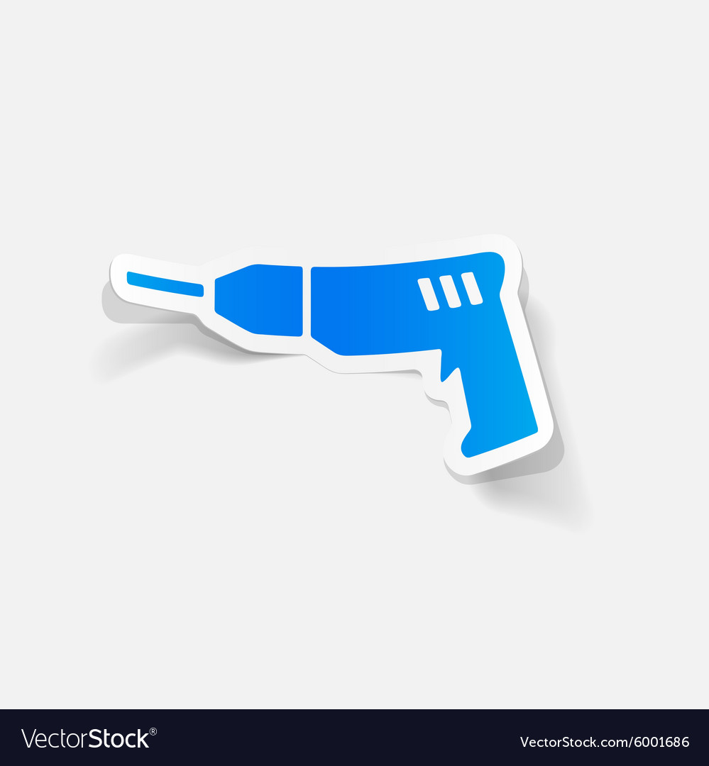 Realistic design element drill vector
