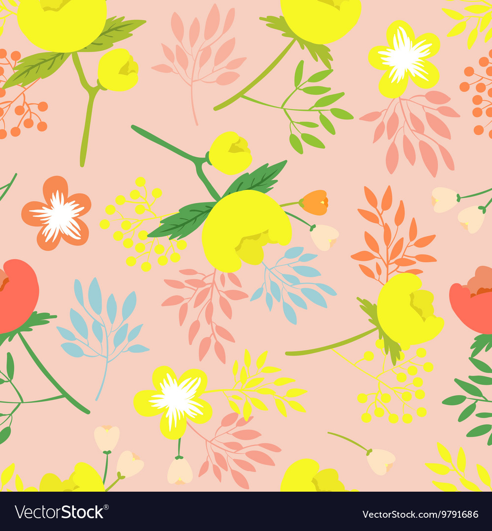 Seamless pattern with beautiful flower vector