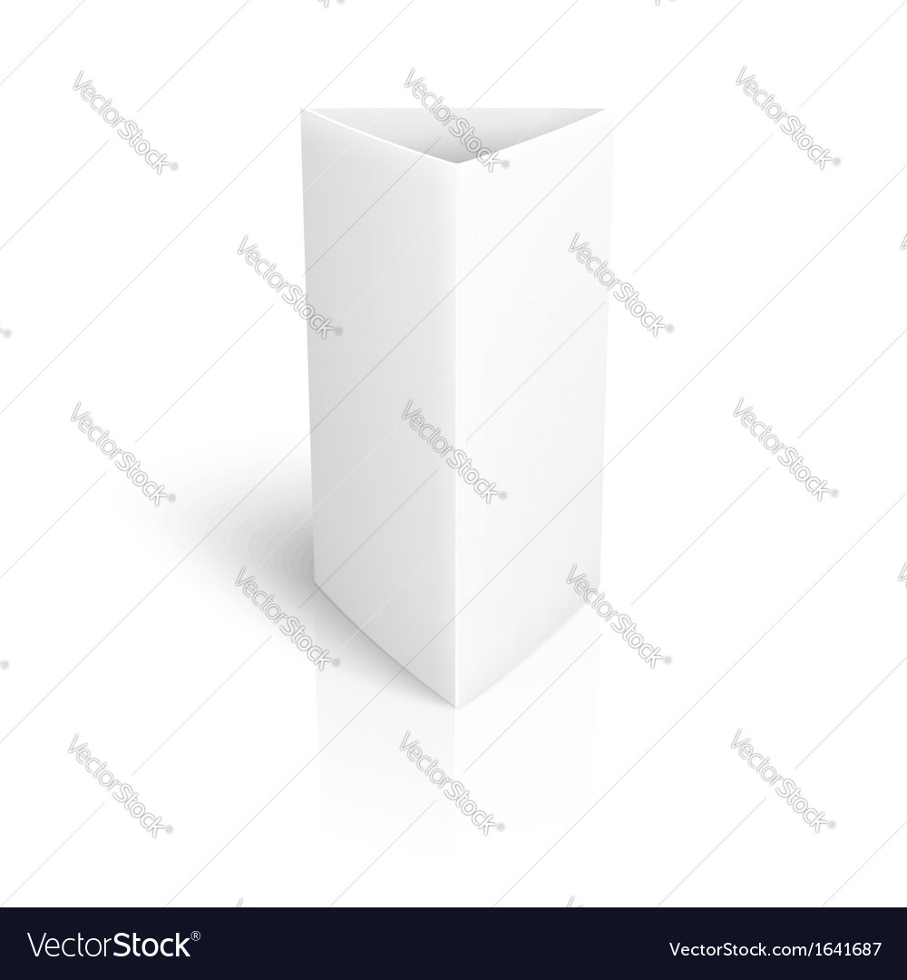 Blank paper vertical triangle card vector